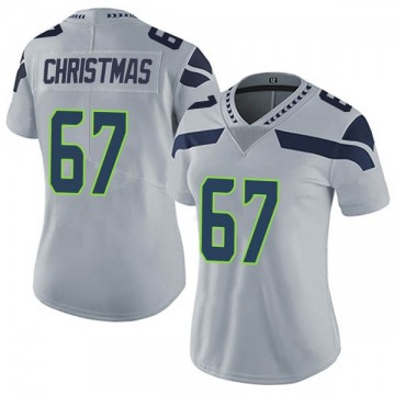 Women's Nike Seattle Seahawks Demarcus Christmas Gray Alternate Vapor Untouchable Jersey - Limited