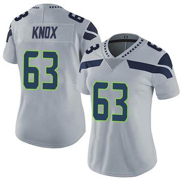 Women's Nike Seattle Seahawks Demetrius Knox Gray Alternate Vapor Untouchable Jersey - Limited