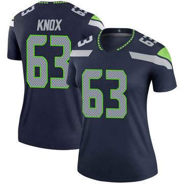 Women's Nike Seattle Seahawks Demetrius Knox Navy Jersey - Legend