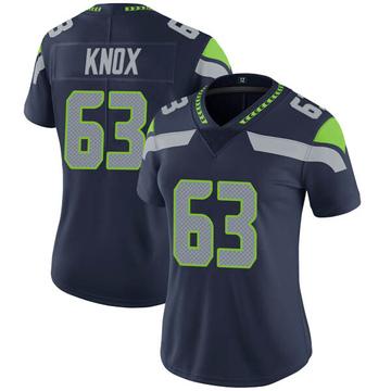 Women's Nike Seattle Seahawks Demetrius Knox Navy Team Color Vapor Untouchable Jersey - Limited