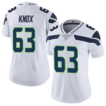 Women's Nike Seattle Seahawks Demetrius Knox White Vapor Untouchable Jersey - Limited