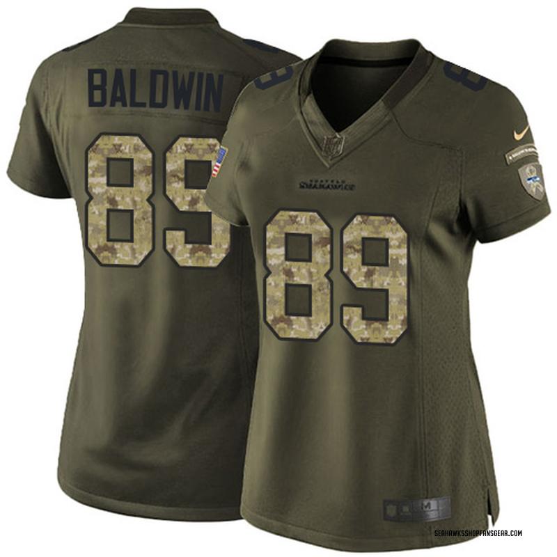 more photos d53eb 4843e Women's Nike Seattle Seahawks Doug Baldwin Green Salute to Service Jersey -  Limited