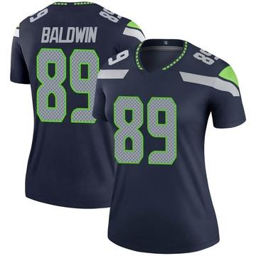 Women's Nike Seattle Seahawks Doug Baldwin Navy Jersey - Legend