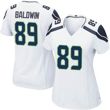 Women's Nike Seattle Seahawks Doug Baldwin White Jersey - Game