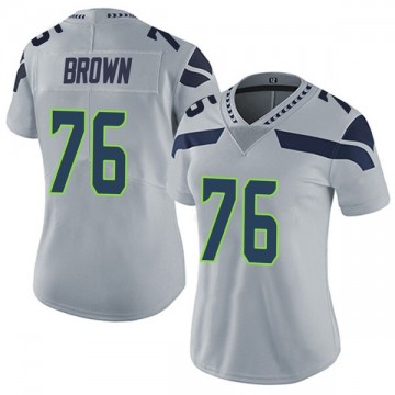 Women's Nike Seattle Seahawks Duane Brown Brown Gray Alternate Vapor Untouchable Jersey - Limited
