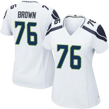 Women's Nike Seattle Seahawks Duane Brown White Jersey - Game