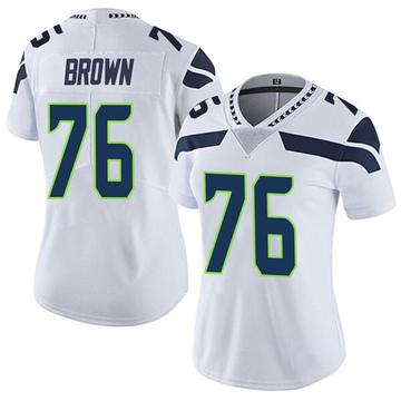 Women's Nike Seattle Seahawks Duane Brown White Vapor Untouchable Jersey - Limited