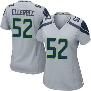 Women's Nike Seattle Seahawks Emmanuel Ellerbee Gray Alternate Jersey - Game