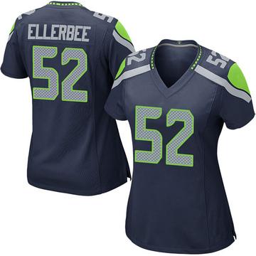 Women's Nike Seattle Seahawks Emmanuel Ellerbee Navy Team Color Jersey - Game