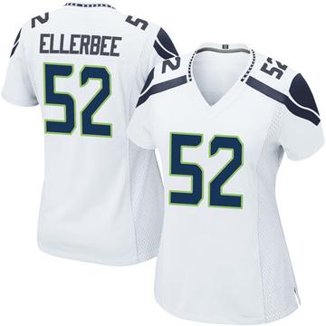 Women's Nike Seattle Seahawks Emmanuel Ellerbee White Jersey - Game