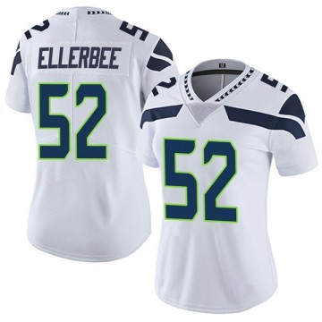 Women's Nike Seattle Seahawks Emmanuel Ellerbee White Vapor Untouchable Jersey - Limited