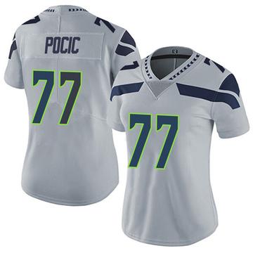 Women's Nike Seattle Seahawks Ethan Pocic Gray Alternate Vapor Untouchable Jersey - Limited