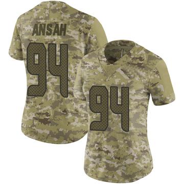 Women's Nike Seattle Seahawks Ezekiel Ansah Camo 2018 Salute to Service Jersey - Limited