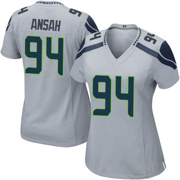 Women's Nike Seattle Seahawks Ezekiel Ansah Gray Alternate Jersey - Game