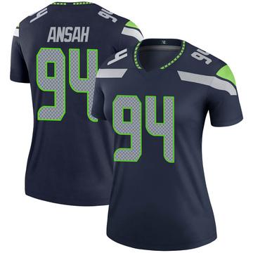 Women's Nike Seattle Seahawks Ezekiel Ansah Navy Jersey - Legend