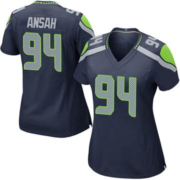 Women's Nike Seattle Seahawks Ezekiel Ansah Navy Team Color Jersey - Game