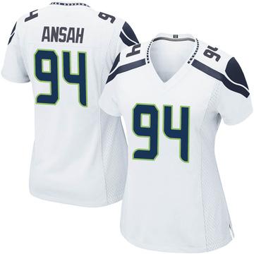 Women's Nike Seattle Seahawks Ezekiel Ansah White Jersey - Game