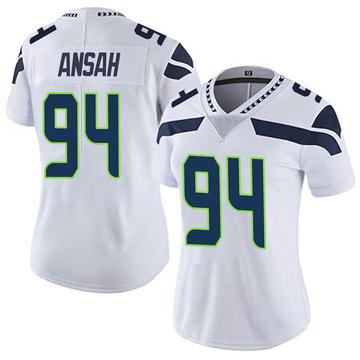 Women's Nike Seattle Seahawks Ezekiel Ansah White Vapor Untouchable Jersey - Limited