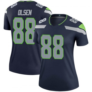 Women's Nike Seattle Seahawks Greg Olsen Navy Jersey - Legend