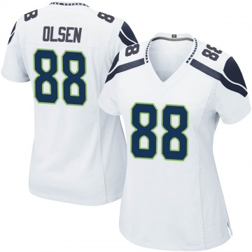 Women's Nike Seattle Seahawks Greg Olsen White Jersey - Game