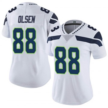 Women's Nike Seattle Seahawks Greg Olsen White Vapor Untouchable Jersey - Limited