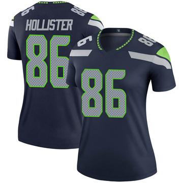Women's Nike Seattle Seahawks Jacob Hollister Navy Jersey - Legend