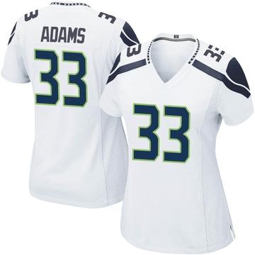 Women's Nike Seattle Seahawks Jamal Adams White Jersey - Game