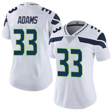 Women's Nike Seattle Seahawks Jamal Adams White Vapor Untouchable Jersey - Limited