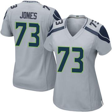 Women's Nike Seattle Seahawks Jamarco Jones Gray Alternate Jersey - Game