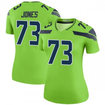 Women's Nike Seattle Seahawks Jamarco Jones Green Color Rush Neon Jersey - Legend