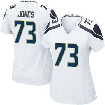 Women's Nike Seattle Seahawks Jamarco Jones White Jersey - Game