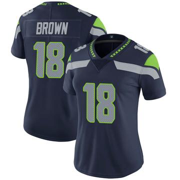 Women's Nike Seattle Seahawks Jaron Brown Brown Navy 100th Vapor Jersey - Limited