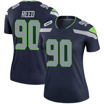 Women's Nike Seattle Seahawks Jarran Reed Navy Jersey - Legend