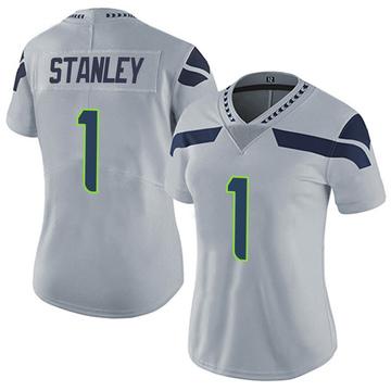 Women's Nike Seattle Seahawks Jayson Stanley Gray Alternate Vapor Untouchable Jersey - Limited