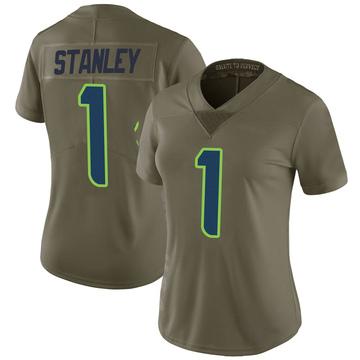 Women's Nike Seattle Seahawks Jayson Stanley Green 2017 Salute to Service Jersey - Limited