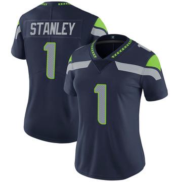 Women's Nike Seattle Seahawks Jayson Stanley Navy 100th Vapor Jersey - Limited