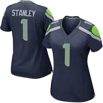 Women's Nike Seattle Seahawks Jayson Stanley Navy Team Color Jersey - Game