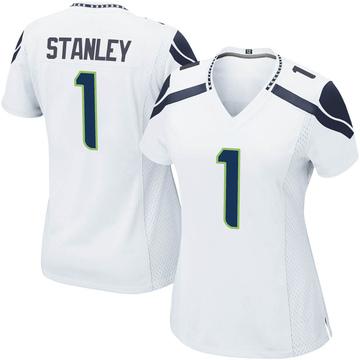 Women's Nike Seattle Seahawks Jayson Stanley White Jersey - Game
