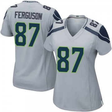 Women's Nike Seattle Seahawks Jazz Ferguson Gray Alternate Jersey - Game