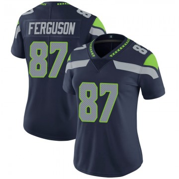 Women's Nike Seattle Seahawks Jazz Ferguson Navy 100th Vapor Jersey - Limited