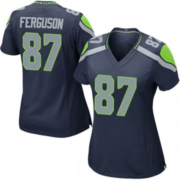 Women's Nike Seattle Seahawks Jazz Ferguson Navy Team Color Jersey - Game