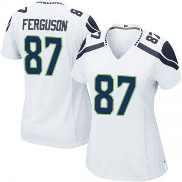 Women's Nike Seattle Seahawks Jazz Ferguson White Jersey - Game
