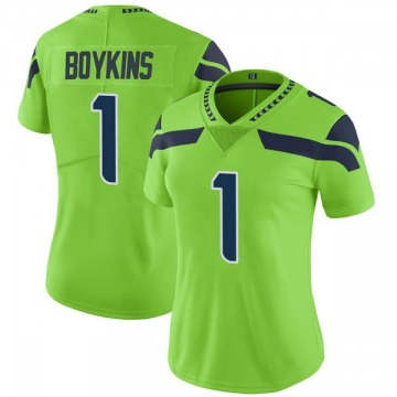 Women's Nike Seattle Seahawks Jeremy Boykins Green Color Rush Neon Jersey - Limited