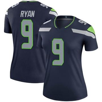 Women's Nike Seattle Seahawks Jon Ryan Navy Jersey - Legend
