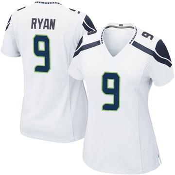 Women's Nike Seattle Seahawks Jon Ryan White Jersey - Game