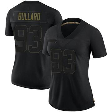 Women's Nike Seattle Seahawks Jonathan Bullard Black 2020 Salute To Service Jersey - Limited