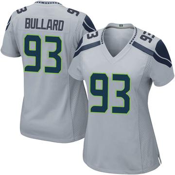 Women's Nike Seattle Seahawks Jonathan Bullard Gray Alternate Jersey - Game