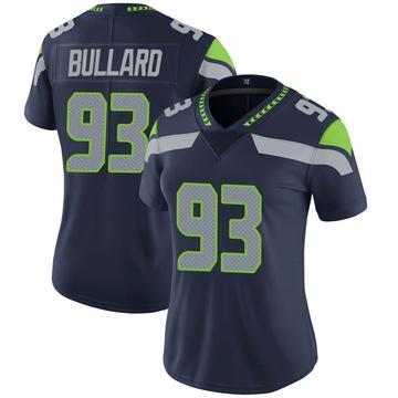 Women's Nike Seattle Seahawks Jonathan Bullard Navy 100th Vapor Jersey - Limited