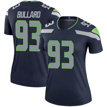Women's Nike Seattle Seahawks Jonathan Bullard Navy Jersey - Legend