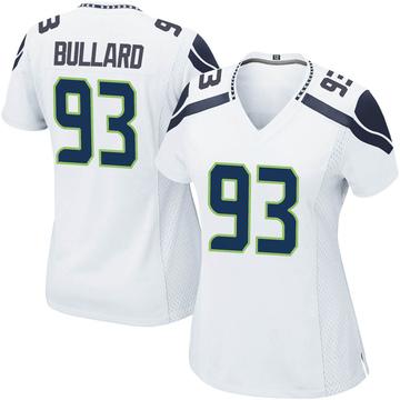 Women's Nike Seattle Seahawks Jonathan Bullard White Jersey - Game